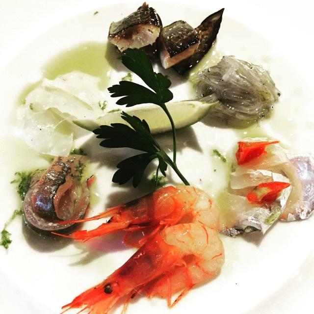 本日の鮮魚前菜 鮮魚の盛り合わせ